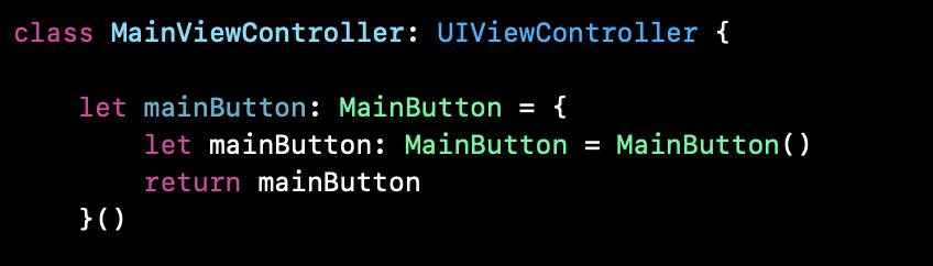 MainViewController에 올라간 MainButton의 코드